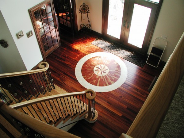 Foyer in a Custom Home Built by Cullen Brothers